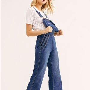NWT Free People Chasing Rainbows Overalls
